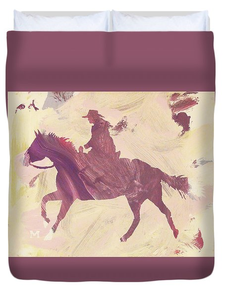 Apple Cowgirl Duvet Cover