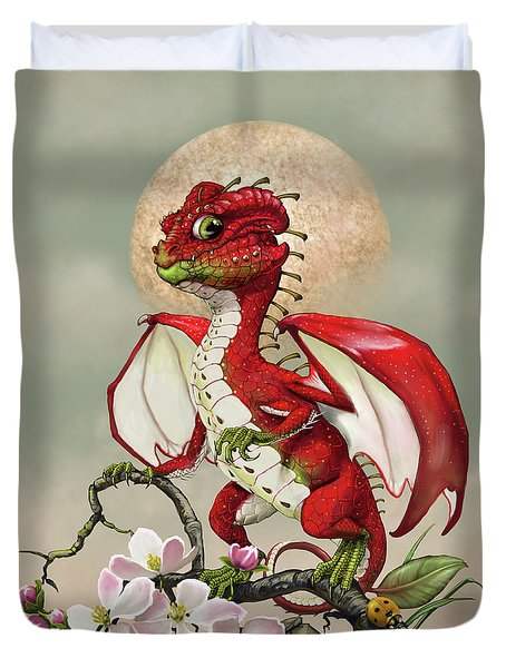 Duvet Cover featuring the digital art Apple Dragon by Stanley Morrison