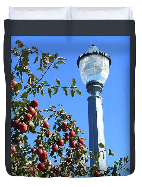 Duvet Cover featuring the photograph Apple Fest  by Irina Sztukowski