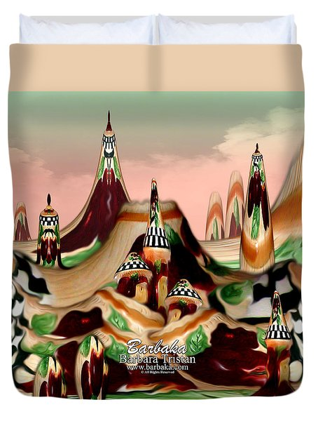 Duvet Cover featuring the photograph Apple Land Countryside by Barbara Tristan