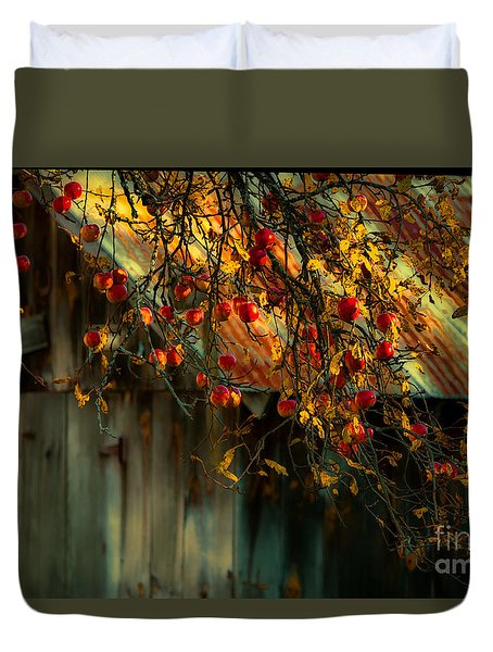 Apple Picking Time Duvet Cover