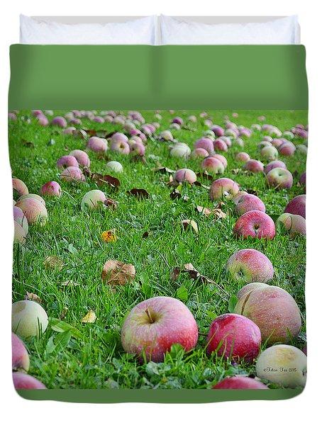 Apple Rain Duvet Cover by Felicia Tica