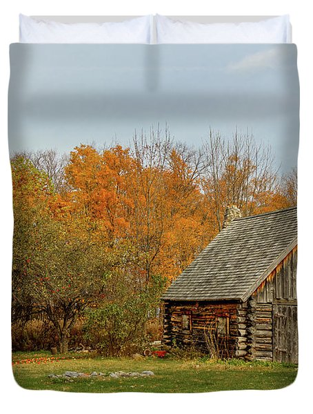 Apple Season At The Woods Duvet Cover