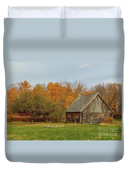 Apple Season At The Woods Duvet Cover