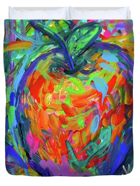 Apple Splash Duvet Cover