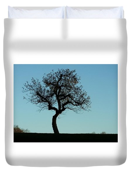 Apple Tree In November Duvet Cover
