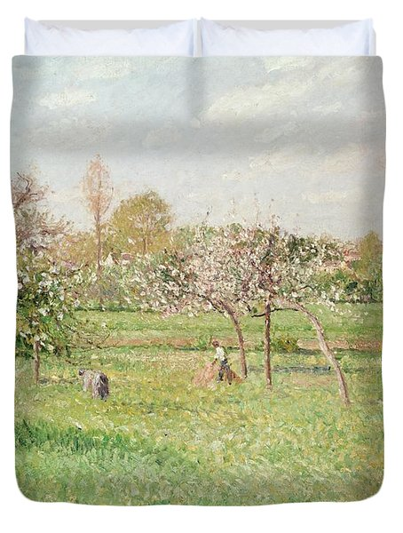 Apple Trees At Gragny Duvet Cover