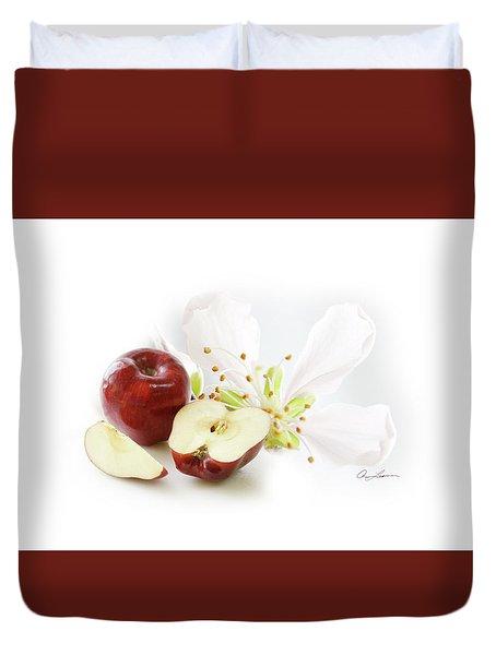 Apples And Blossom Duvet Cover