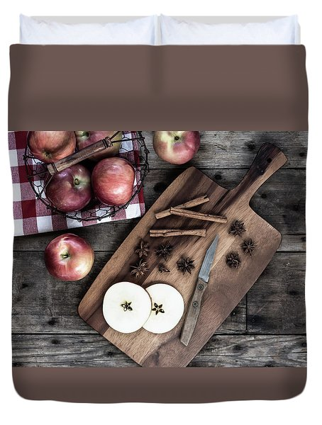 Duvet Cover featuring the photograph Apples And Cinnamon  by Kim Hojnacki