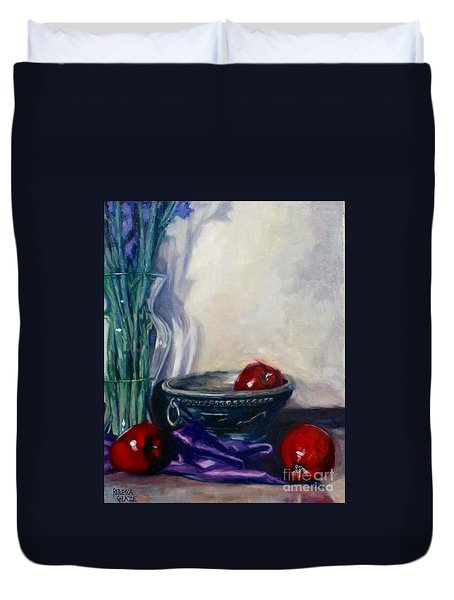 Apples And Silk Duvet Cover