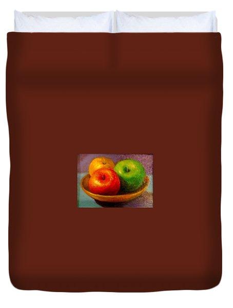 Apples Duvet Cover by Eun Yun