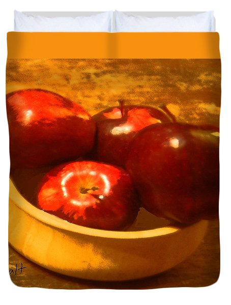 Apples In A Bowl Duvet Cover