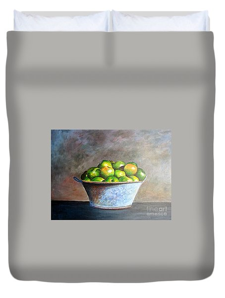 Apples In A Rusty Bucket Duvet Cover