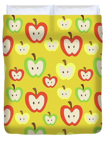 Apples Duvet Cover by Nicole Wilson