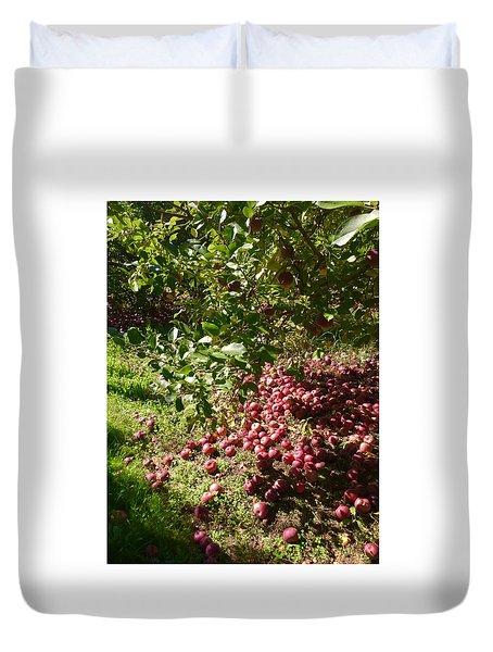 Apples...apples...everywhere Duvet Cover by Jason Nicholas