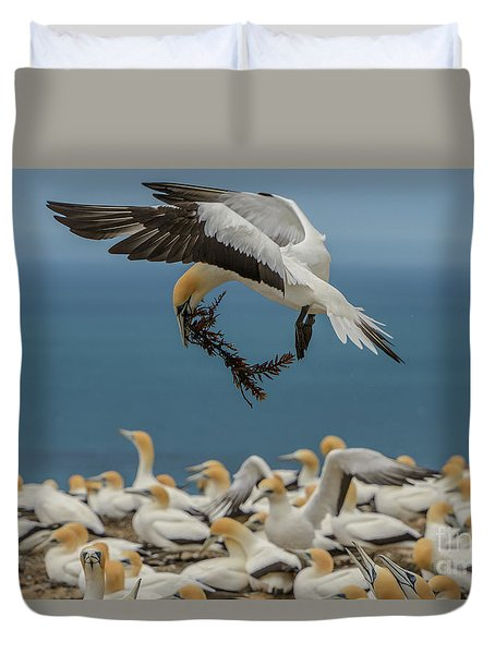 Duvet Cover featuring the photograph Applying The Brakes by Werner Padarin
