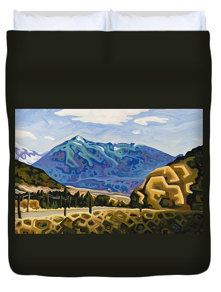 Approaching Garrison Junction Duvet Cover by Dale Beckman