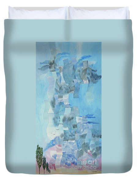 Approaching Storm Duvet Cover by Jeni Bate