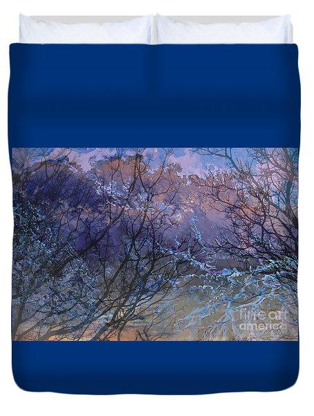 Spring Rain Duvet Cover by Ursula Freer