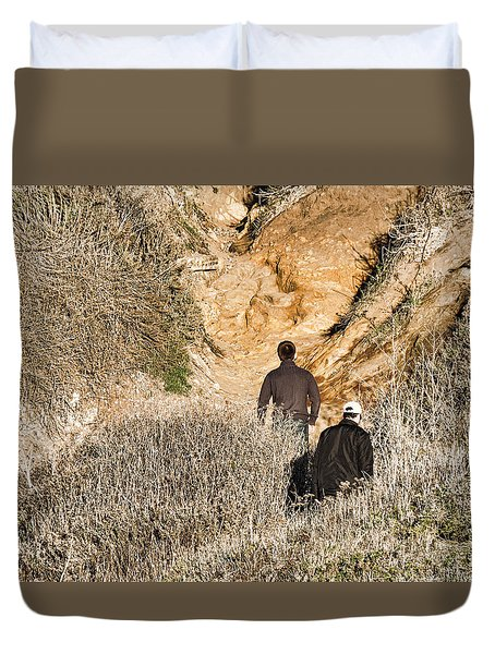 Approaching The Incline Duvet Cover