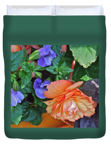 Apricot Begonia 1 Duvet Cover