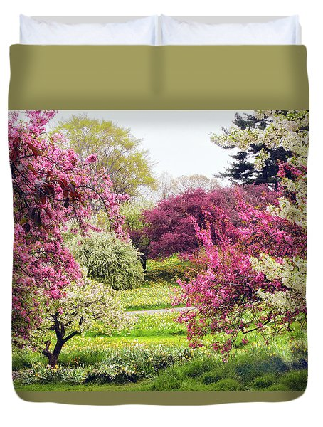 April Afterglow Duvet Cover by Jessica Jenney