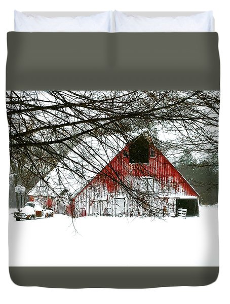 April Blizzard Duvet Cover