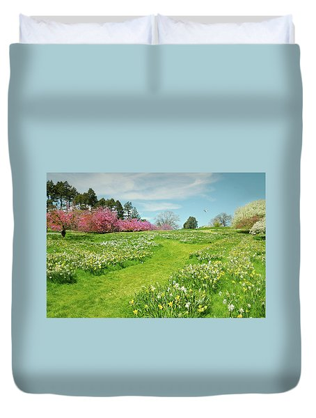 Duvet Cover featuring the photograph April Days by Diana Angstadt
