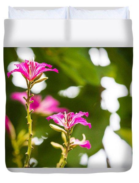 April Flower Duvet Cover