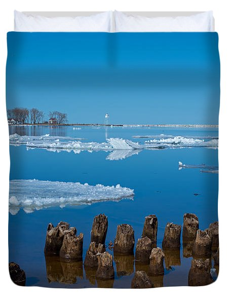 April Ice Duvet Cover