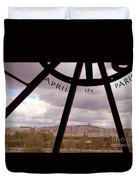 Duvet Cover featuring the painting April In Paris by Rita Brown