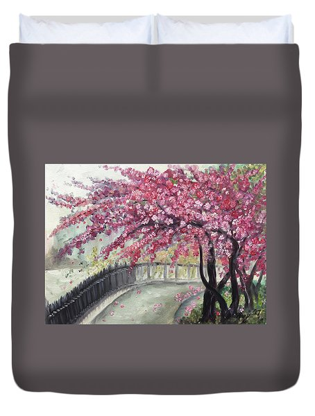 April In Paris Duvet Cover by Roxy Rich
