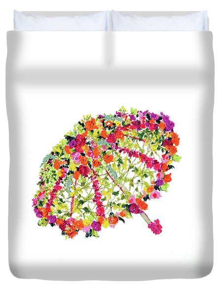Duvet Cover featuring the pastel April Showers Bring May Flowers by Lauren Heller