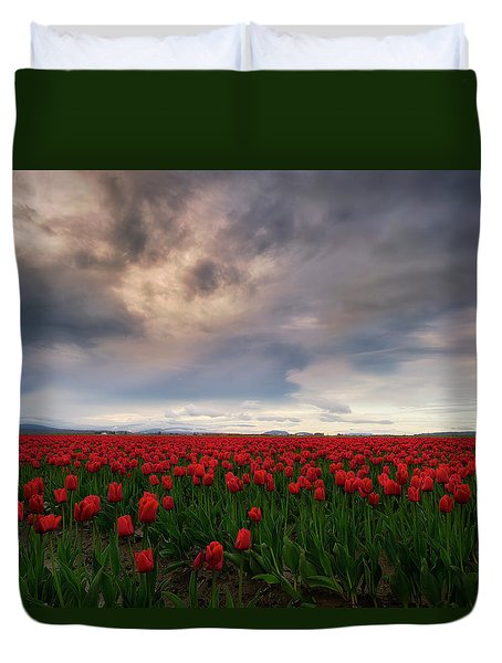 April Showers Duvet Cover by Ryan Manuel