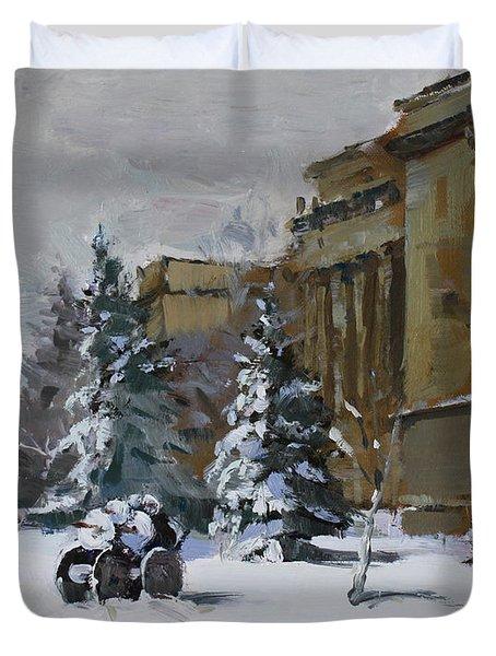 April Snow By The Nacc Duvet Cover