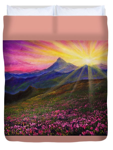 April Sunset Duvet Cover by C Steele