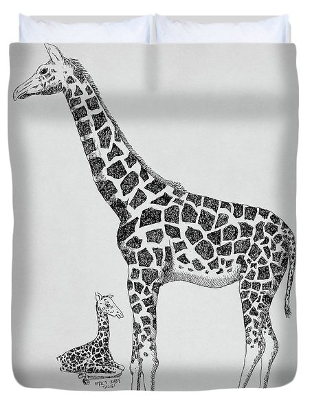 April The Giraffe Duvet Cover