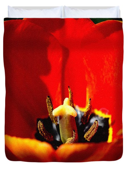 April Tulips Duvet Cover