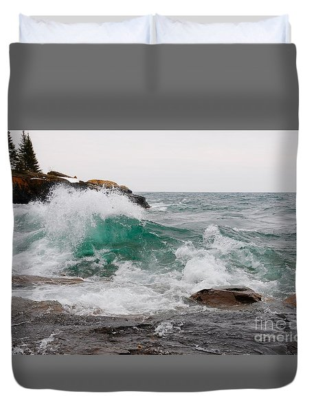 April Waves On Superior Duvet Cover