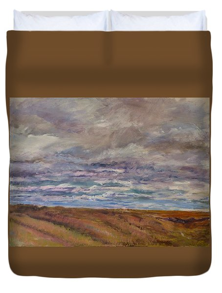 April Wind Duvet Cover by Helen Campbell