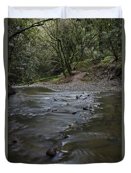 Aptos Creek -- Nisene Marks State Park Duvet Cover