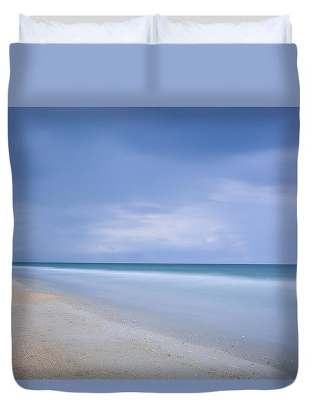 Aqua Duvet Cover by Denis Lemay
