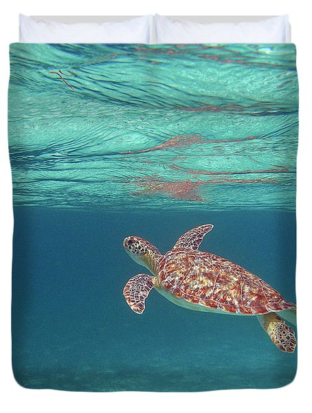 Aqua Dreams Duvet Cover