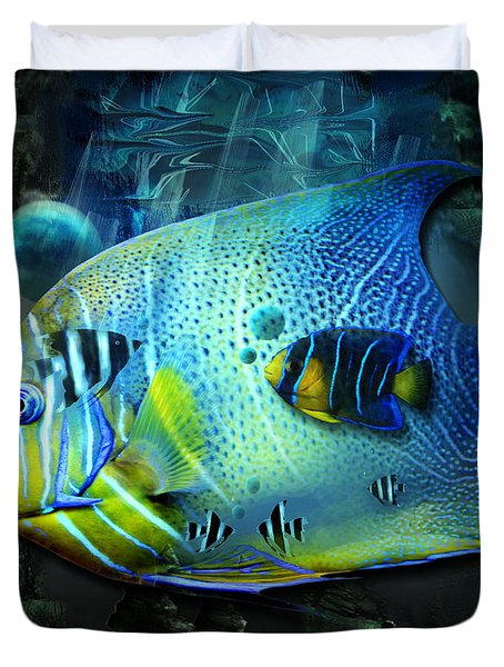Aqua Fantasy Art World Duvet Cover