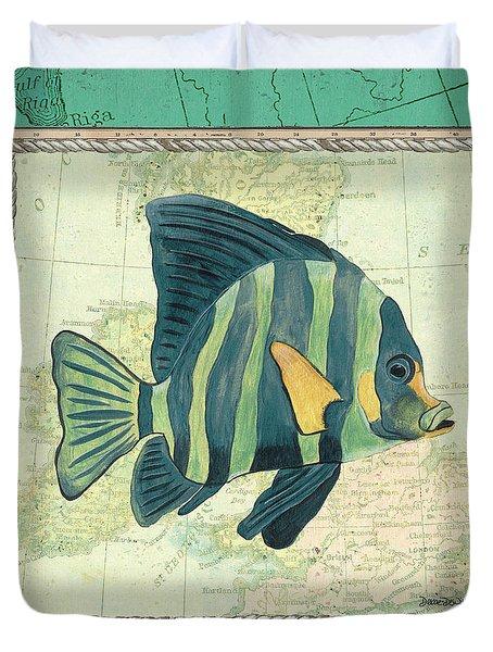 Aqua Maritime Fish Duvet Cover