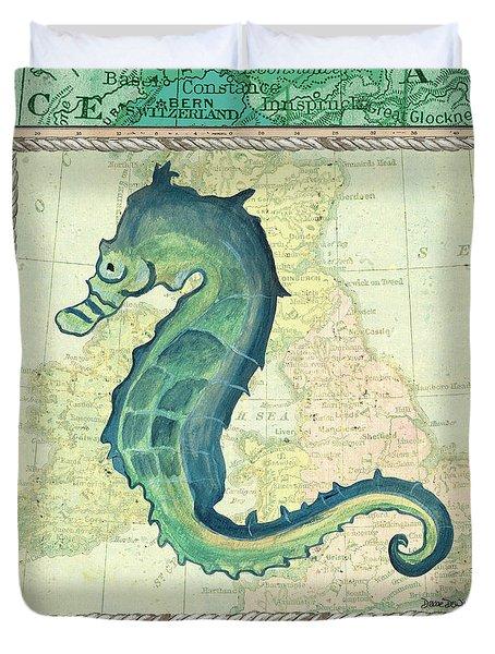 Aqua Maritime Seahorse Duvet Cover