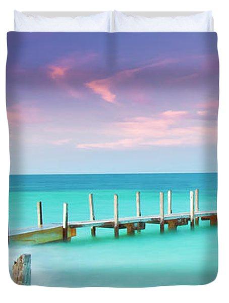Aqua Waters  Duvet Cover