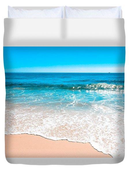 Aquamarine Island Beach Duvet Cover by Colleen Kammerer