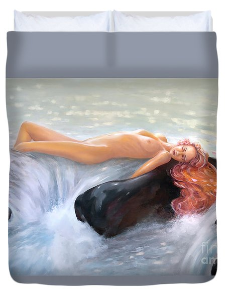 Aquamarine Sea Goddess Duvet Cover