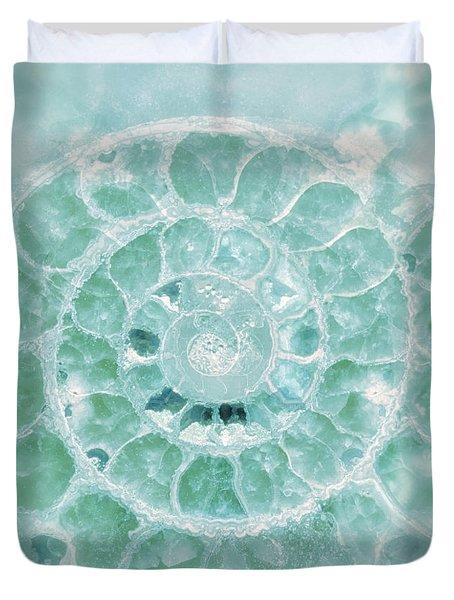 Aquamarine Seashell Fine Art Photograph Duvet Cover